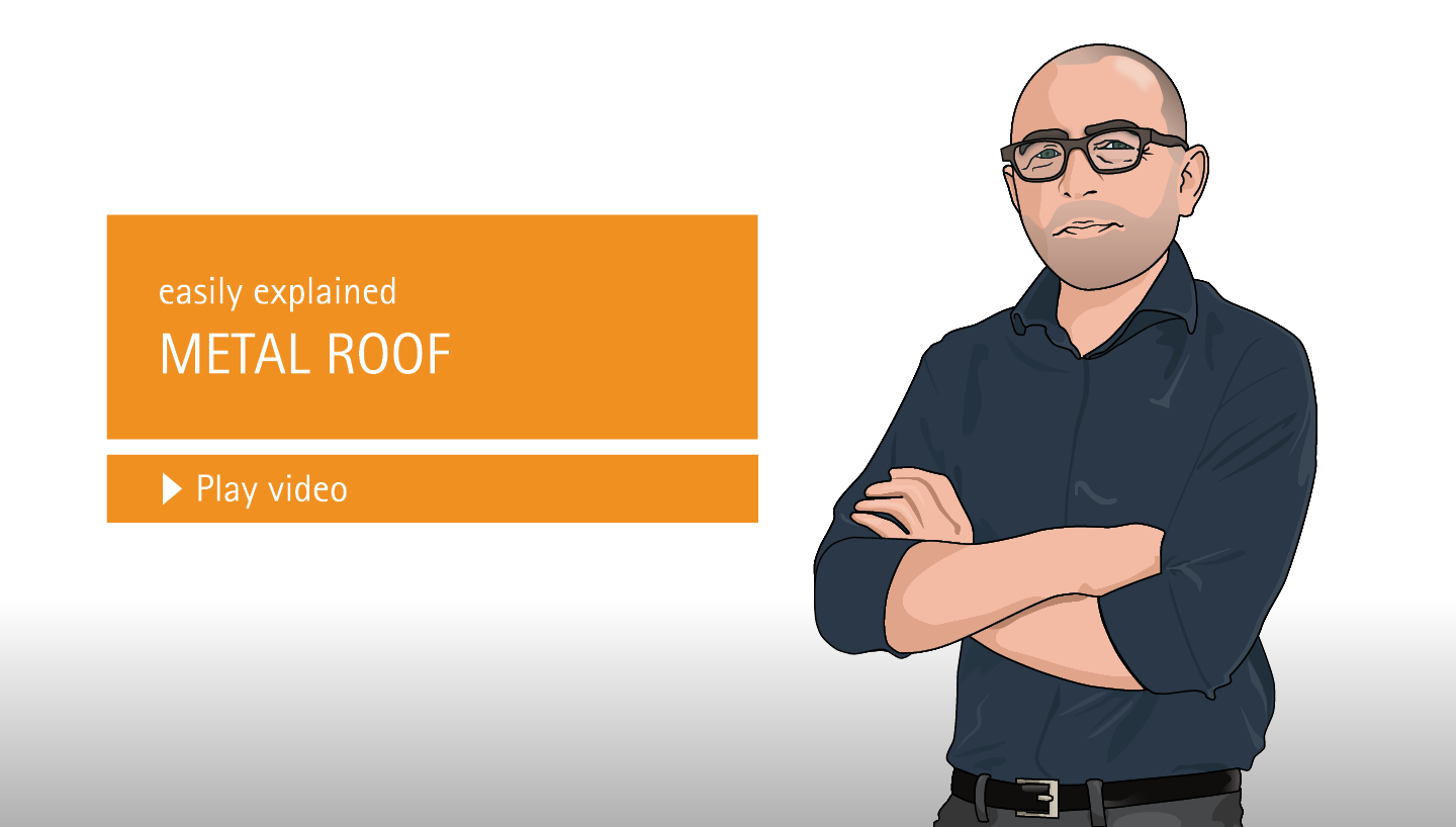 easily explained: Metal roof